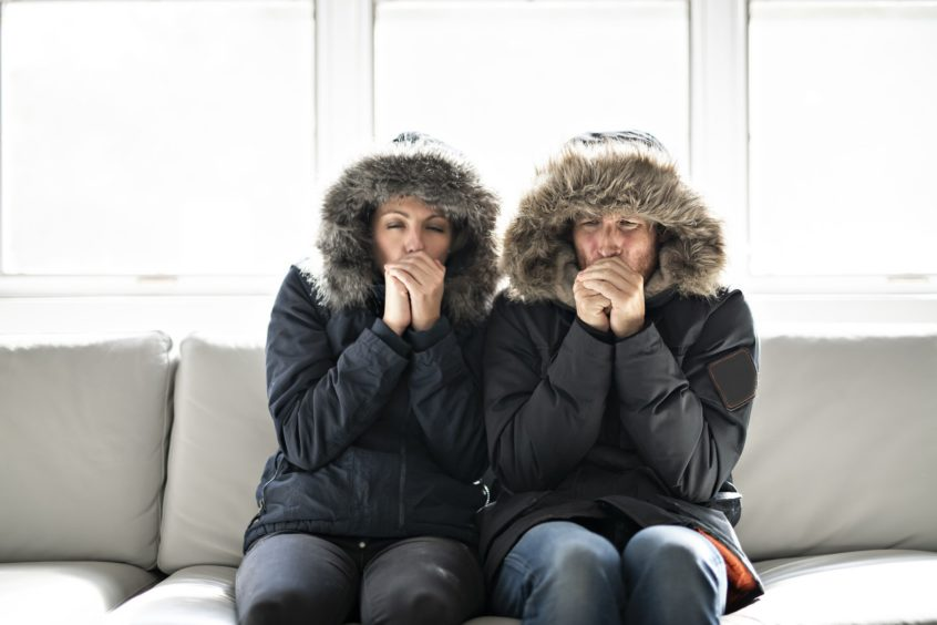 two cold people